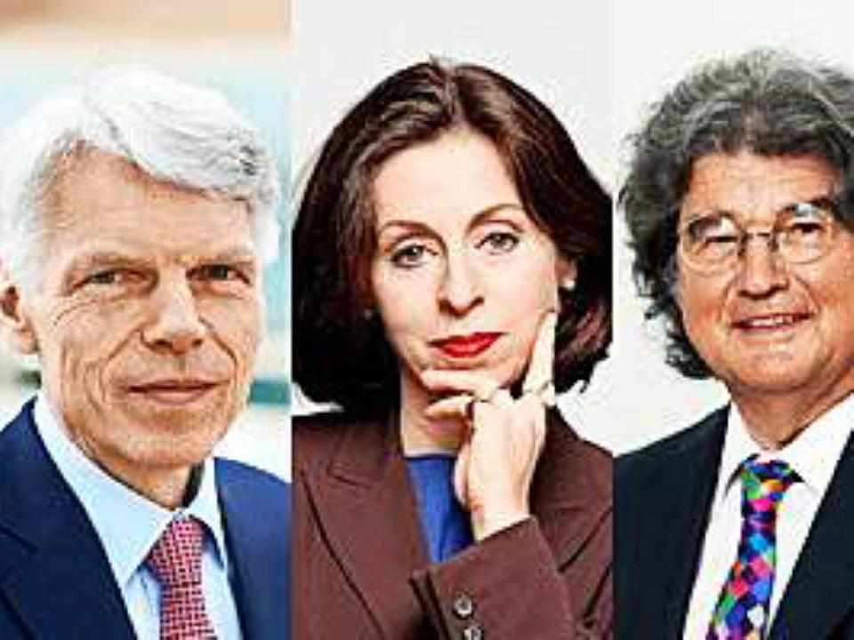 Andreas Barner, Sabine Rollberg und Al...in den Universitätsrat gewählt worden.  | Foto: Boehringer Ingelheim GmbH, privat, Alfred Ritter Gmbh & Co. KG