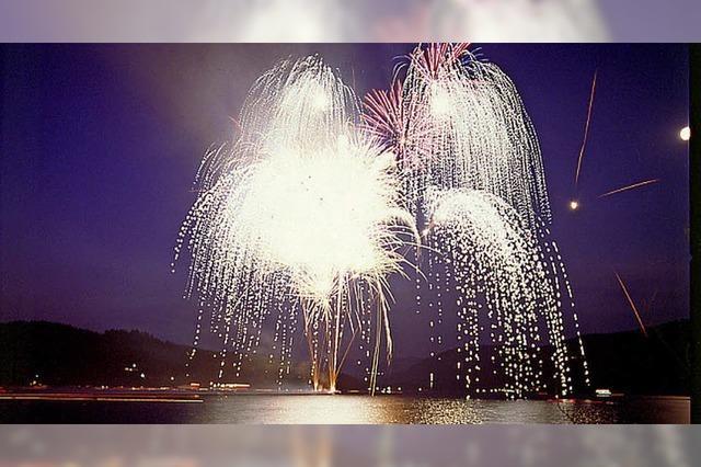 Seenachtsfest mit Feuerwerk am Schluchsee