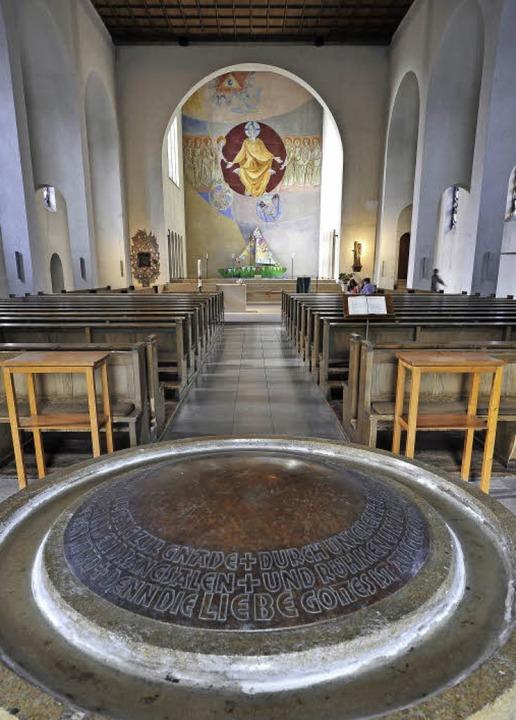 Im Inneren der Dreifaltigkeitskirche w...feiltes Beleuchtungskonzept umgesetzt.    Foto: Thomas Kunz