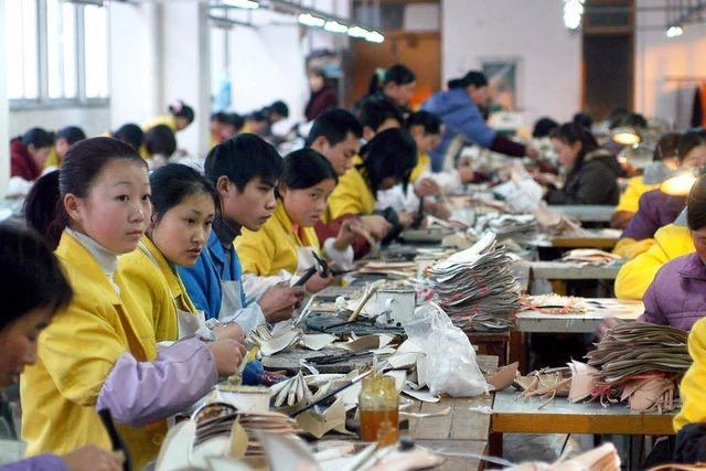 Missstände in der Schuhproduktion an