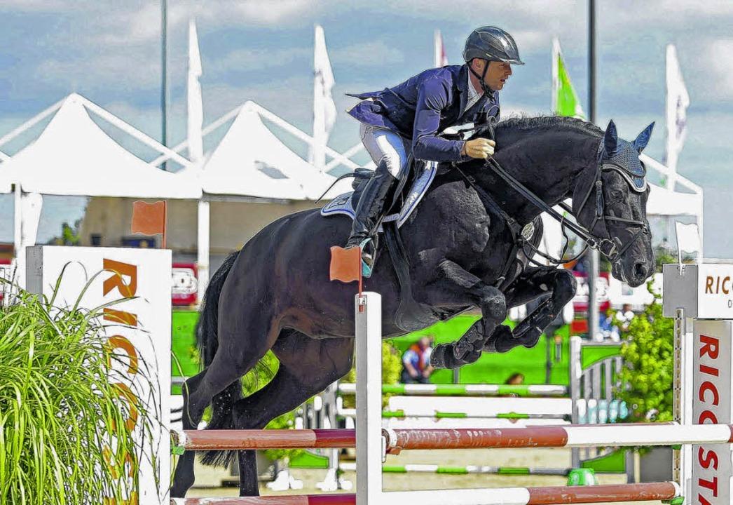 Doppel-Olympiasieger Michel Jung aus H...der ersten Reiter auf den Immenhöfen.     Foto: Roger Müller