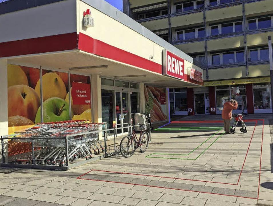Das Foto zeigt, wo die Induktionsschle...den die Einkaufswagen-Räder gesperrt.   | Foto: privat