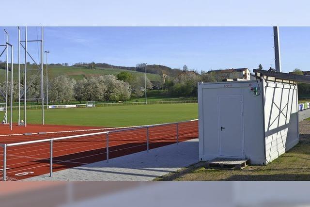 Roter Punkt für Sportheimbau in Sicht