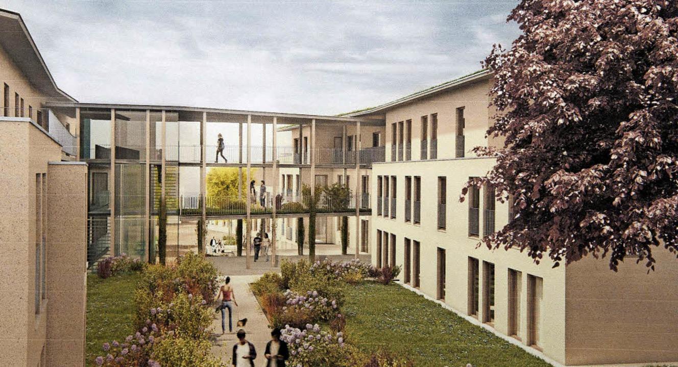 So könnte das neue Wohnquartier nach e...chaft Werkgruppe Lahr einmal aussehen.  | Foto: Volker münch