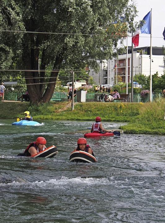 Hydrospeed –  rasant den Kanal hinab     Foto: Kaufmann-Spachtholz