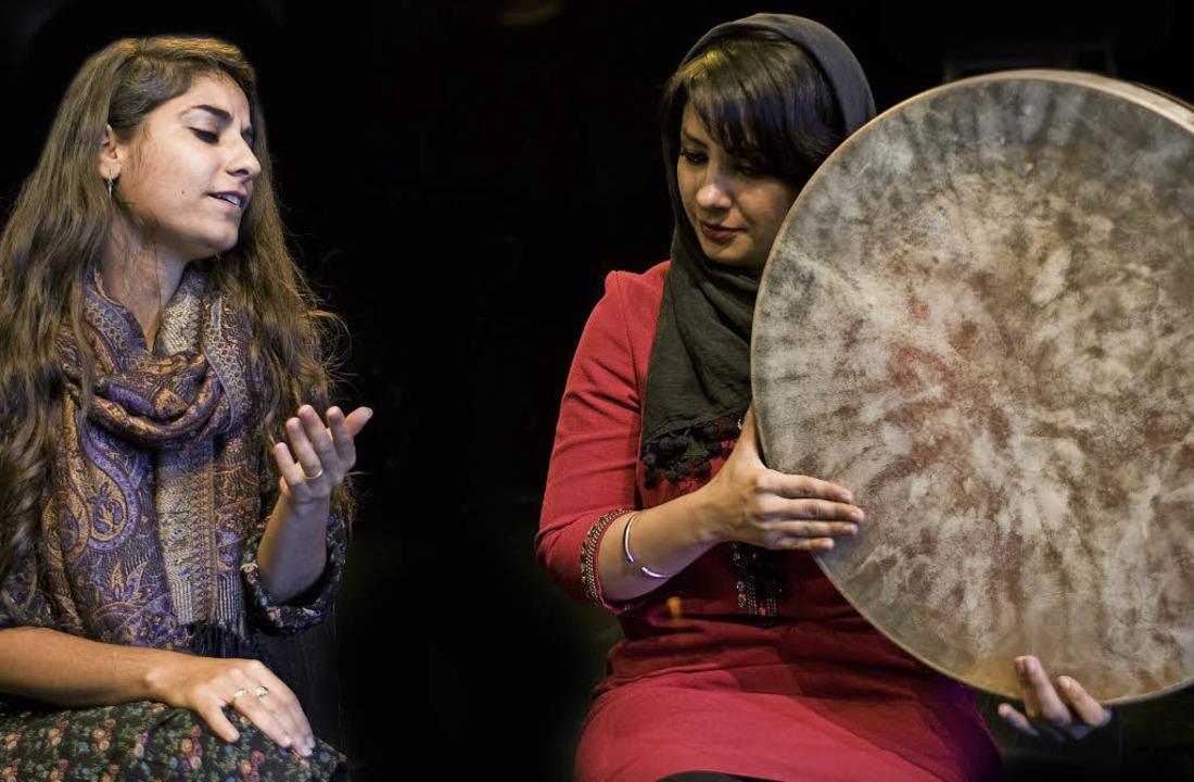 Michal Elia Kamal und Maryam Hatef (von links)    Foto: Ellen Schmauss