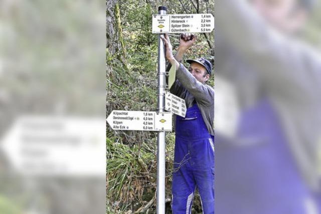Jetzt werden die Wege im Tal neu markiert
