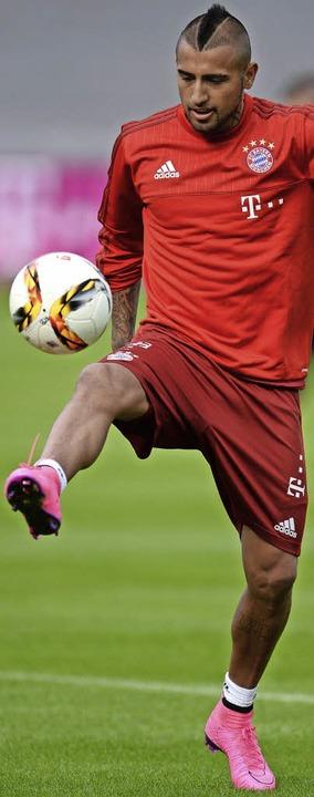 Die neue Größe im Spiel der Bayern: Arturo Vidal   | Foto: dpa