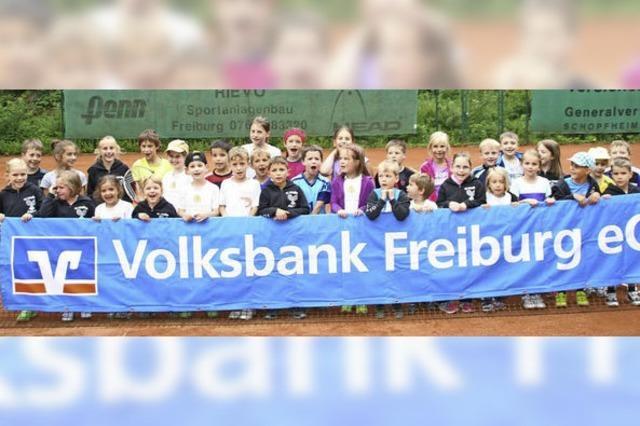 Minis am Tennisnetz