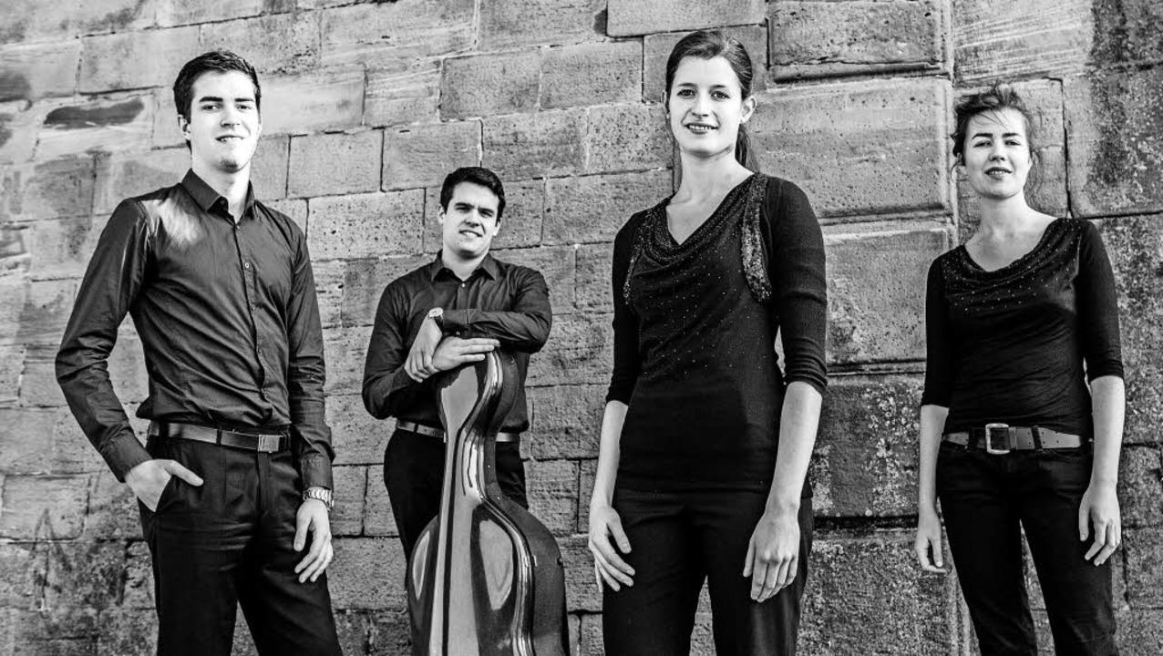Das Aris Quartett: (v.l.) Caspar Vinze...Zipperling, Anna Katharina Wildermuth   | Foto: pro