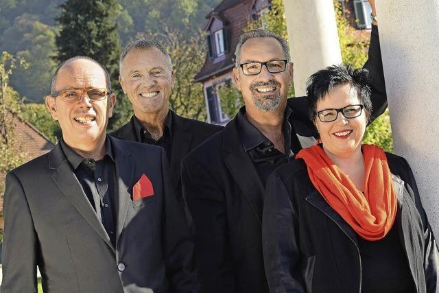 Belcanto singt Jazz und Blues im Garten des Hotel Linde