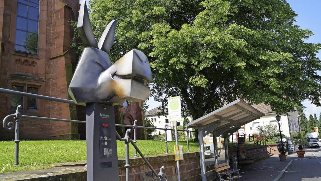 Eselrufsäule: Elektrotaxis sollen ins ...t von Badenweiler eingebunden werden.   | Foto: S. Hartenstein
