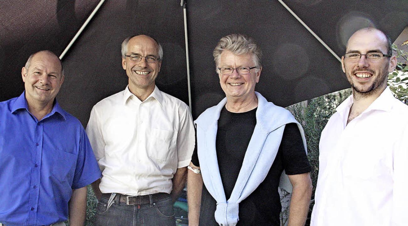 Hartmut Fricke, Peter Marquart, Frithj...n die Ergebnisse des World-Cafés vor.   | Foto: Jörn Kerckhoff