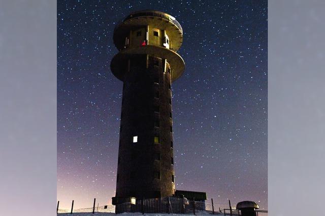 Sternschnuppen flitzen am Nachthimmel