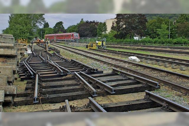 Gleisbau läuft zügig an