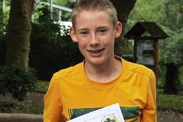 Der 14-jährige David Rosa ist neuer Landesmeister im Boule in der Formation Doublette