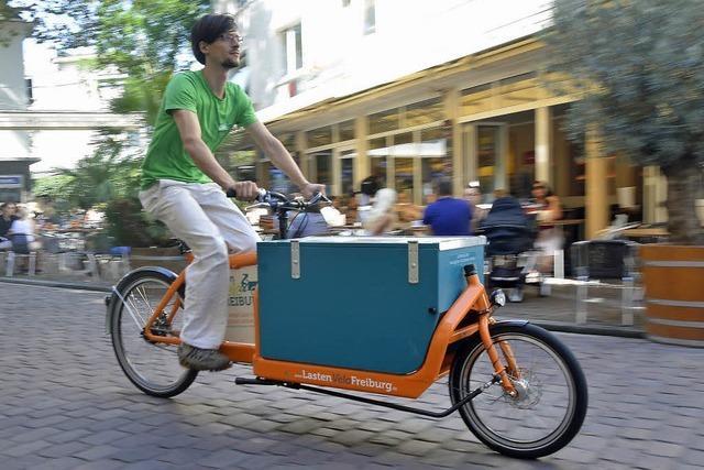 Warum man in Freiburg jetzt kostenlos ein Lastenrad mieten kann