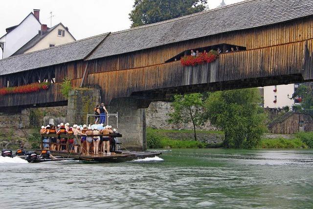 Zweibrückenschwimmen im Rhein