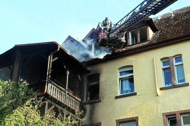 Großbrand in der Lahrer Lotzbeckstraße