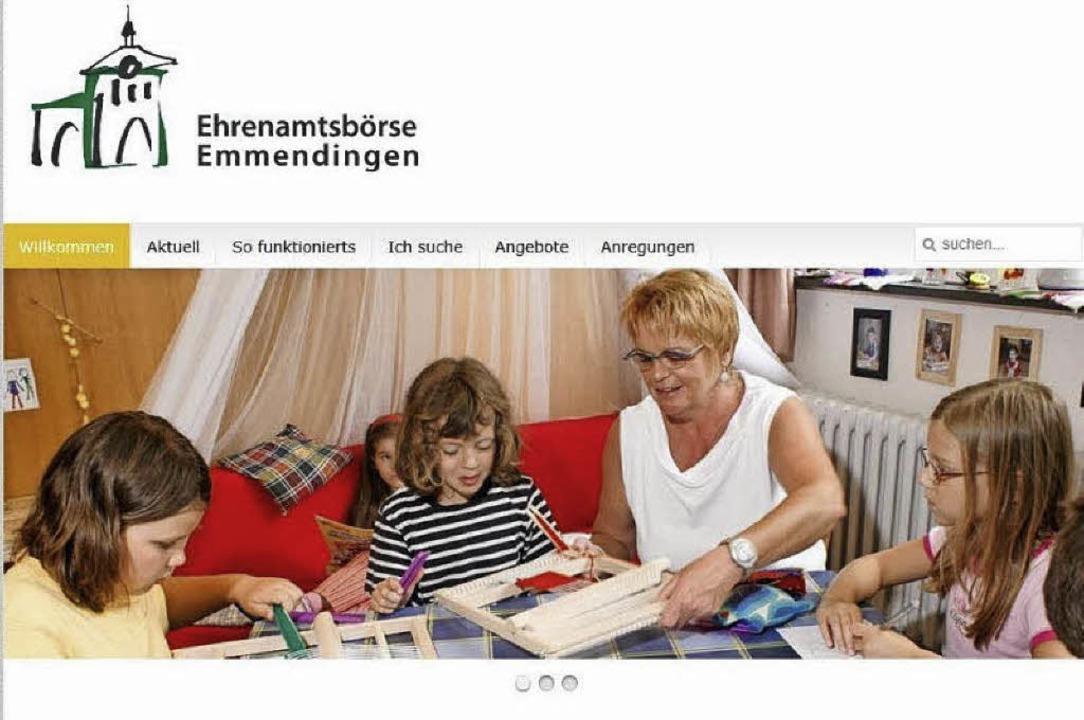 Plattform für Angebot und Nachfrage in...namt: Die Ehrenamtsbörse im Internet.   | Foto: Stadt/BZ