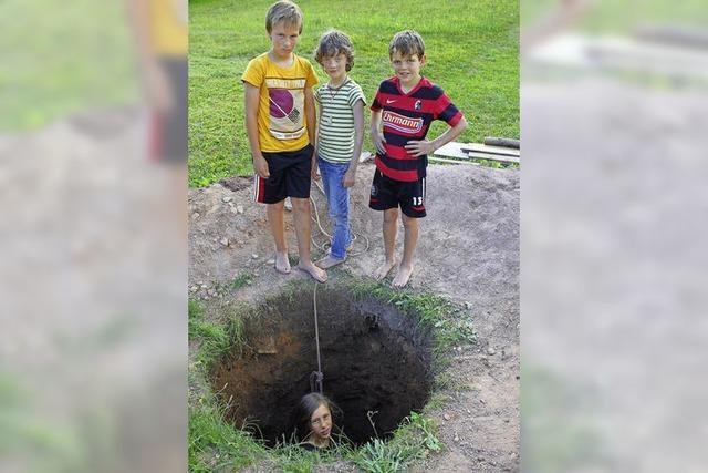 Vier Jungs auf Spurensuche