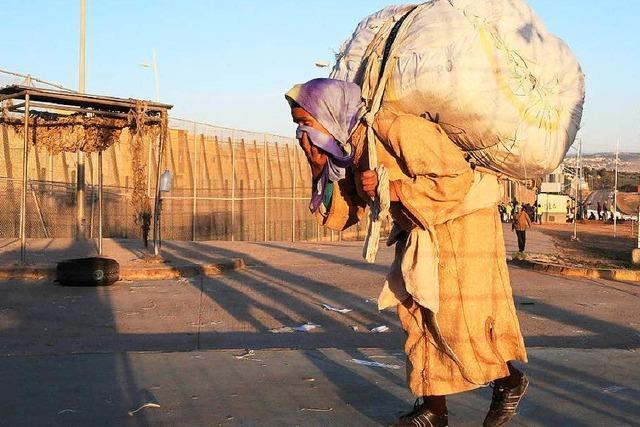 An der Grenze von Mellila zu Marokko herrscht Ungleichheit