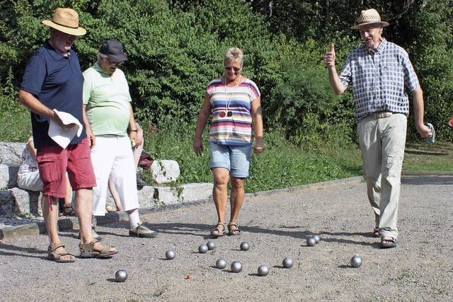 Viel Spaß am Spiel mit den Boule-Kugeln