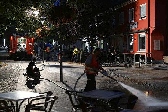Wasserrohrbruch: Land unter in der Innenstadt
