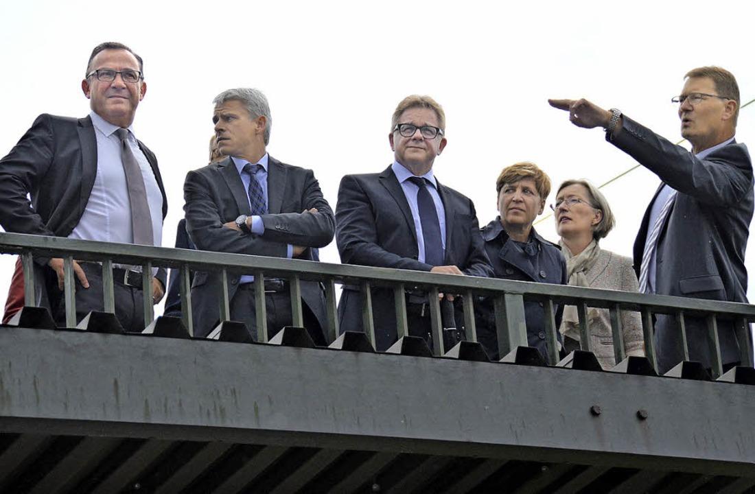 Die Diskussion um die Rheintalbahn &#8...am Bahnhof Auggen – geht weiter.    Foto: A. Huber