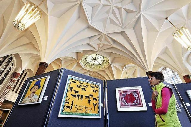 Künstlerin Marlis Glaser zeigt BZ-Lesern ihr