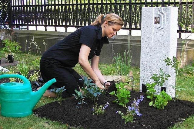 Vergiss mein nicht: Blumenschmuck auf Gräbern