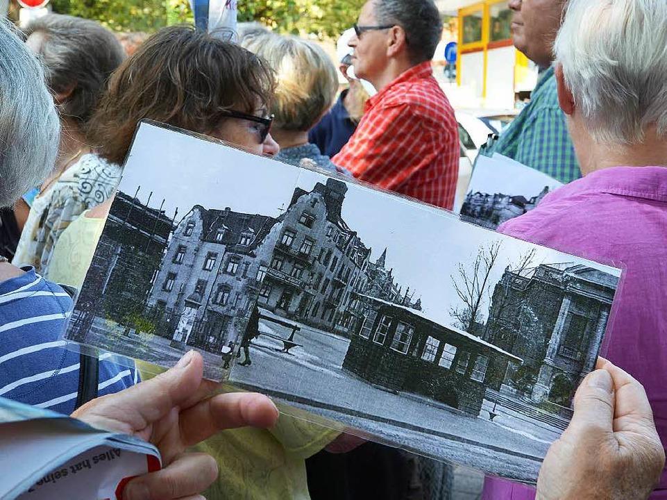 Früher stand auf dem Friedrich-Ebert-P...enaktion amüsiert zur Kenntnis nahmen.  | Foto: Rita Eggstein