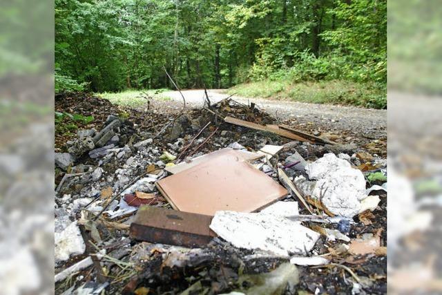 Der Wald wird oft zum Mülleimer