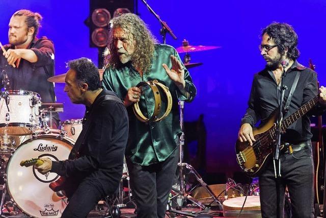 Robert Plant bei der Weinmesse Colmar