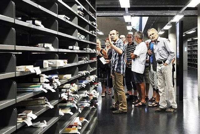 Einblicke in die neue UB: 100 BZ-Leser auf Entdeckungstour