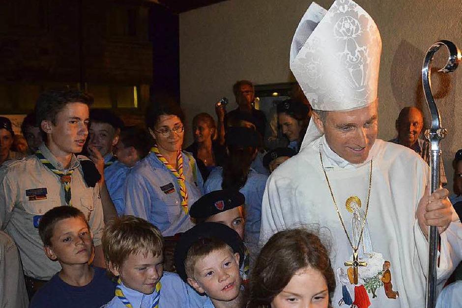 Erzbischof Georg Gänswein, derPrivatsekretär der Päpste in Rom, feierte auf dem Lindenberg einen feierlichen Gottesdienst zu Ehren der Gottesmutter Maria. (Foto: Markus Donner)
