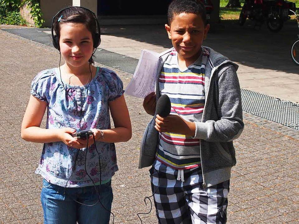 Schülerreporter in Aktion   | Foto: Vanessa Peschel
