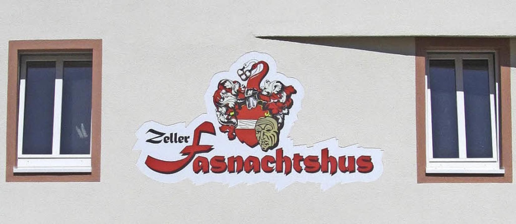 Logo an der sanierten rückwärtigen Fassade  | Foto: Kristin Fritz