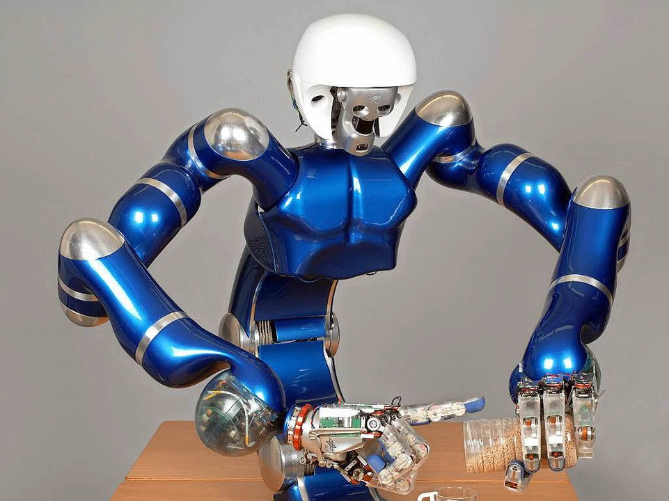 Ein ganz Sensibler: DLR-Roboter Justin  | Foto: DLR