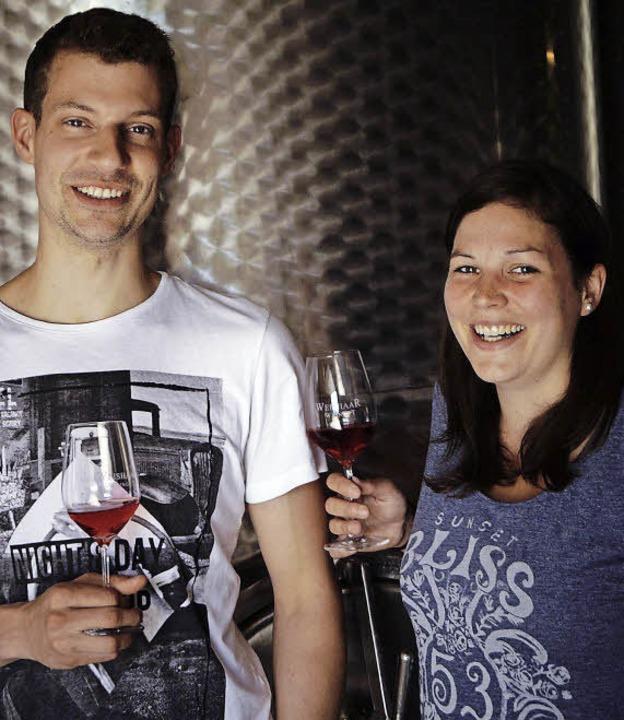 Markus Weishaar und Freundin Corinne T... Marketing und Vertrieb zuständig ist.    Foto: Privat