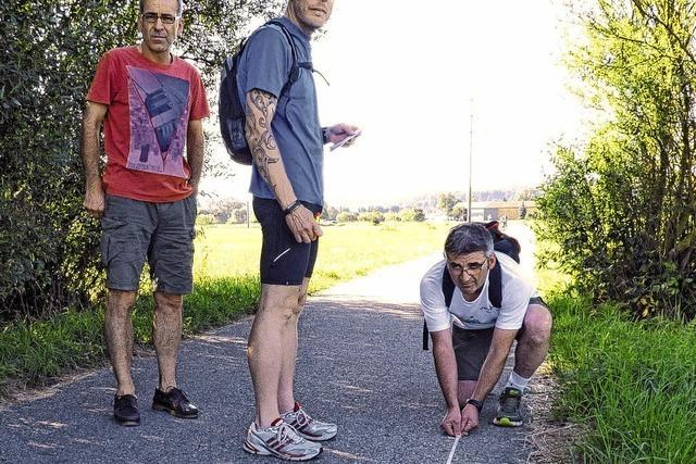 Marathonstrecke exakt vermessen