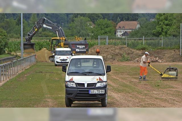 Hartplatz im Europastadion gesperrt - Umbau für Kunstrasen läuft