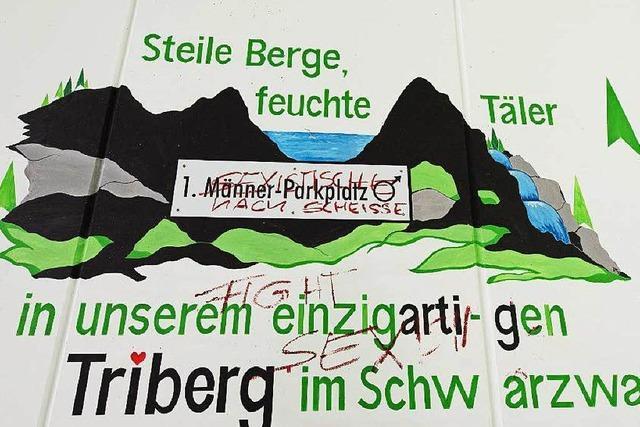 Künstler übermalt sexistisches Wandbild in Triberg