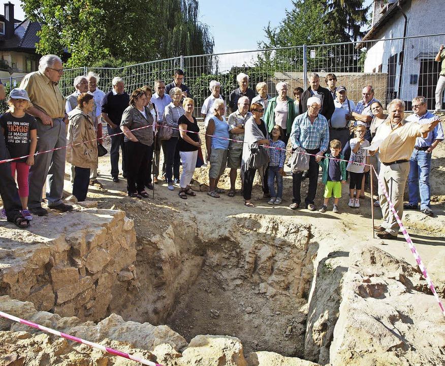 Ausgrabungen St. Alexius: Ende der Gra...d Präsentation bei der Baustellenparty  | Foto: Michael Haberer