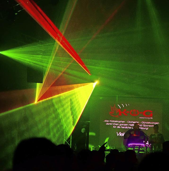 Spektakulär war die Lasershow bei der Projekt X Party.  | Foto: Wolfgang Scheu