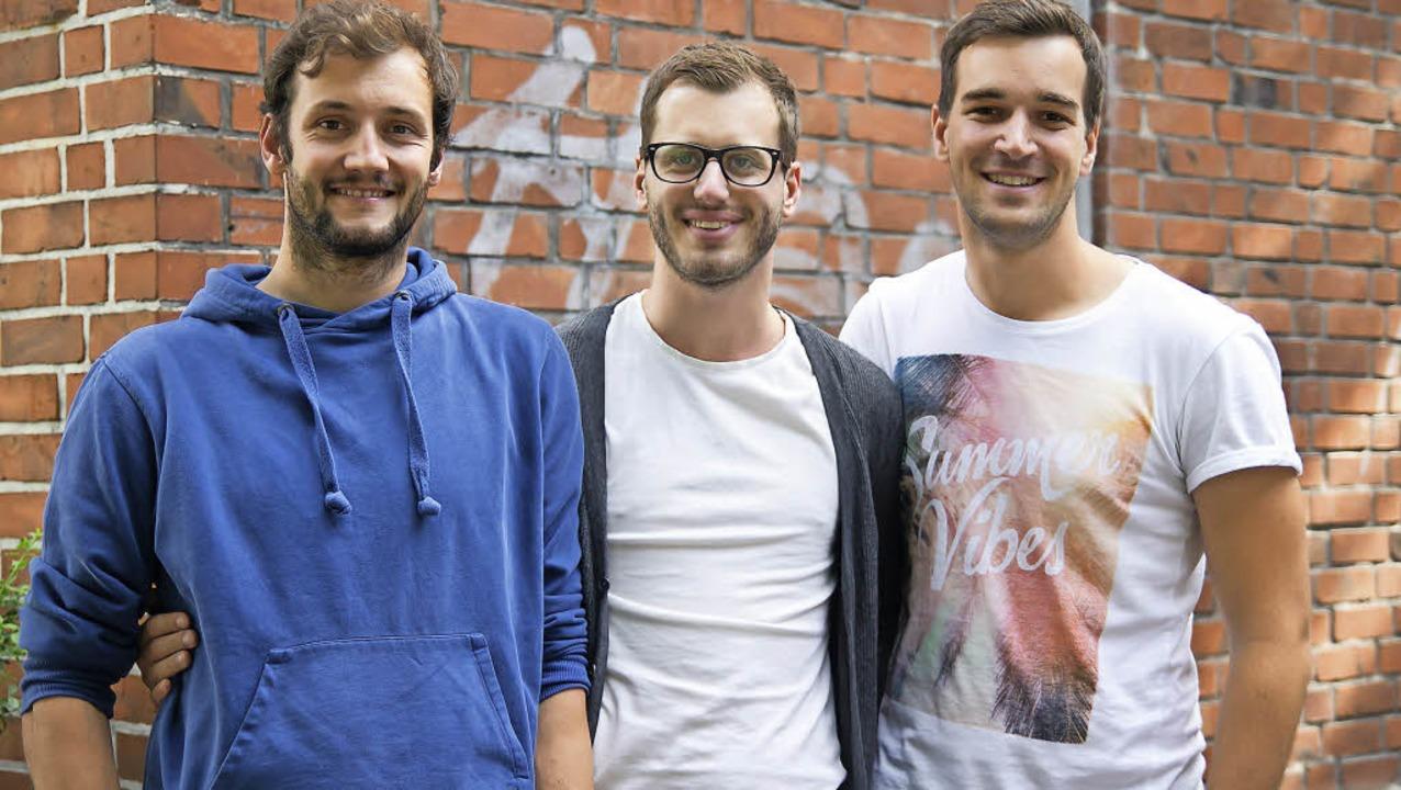 Wollen ihren gemeinnützigen Verein &#8...ann, Peter Wilhelm und Lukas Schömig.   | Foto: be japy/hochschule