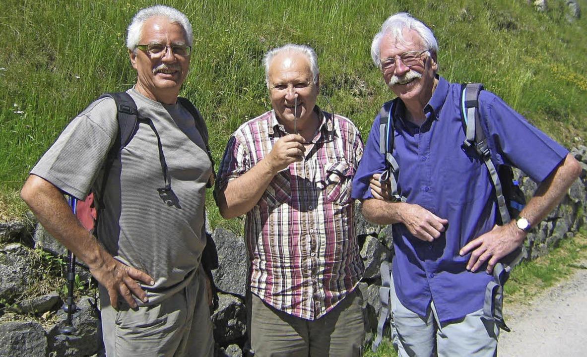 Drei Wanderführer  in Freundschaft ver... Wöhrle vom Schwarzwaldverein Steinen   | Foto: ZVG