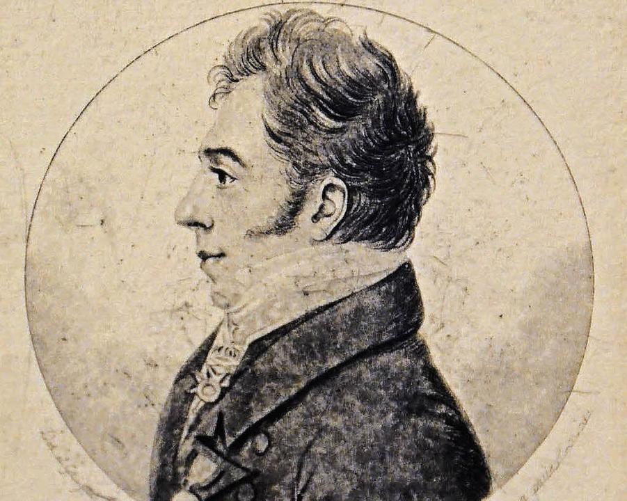 Joseph Ignaz Freiherr von Roggenbach s...r Witwe von Großherzog Karl von Baden.    Foto: Hönig