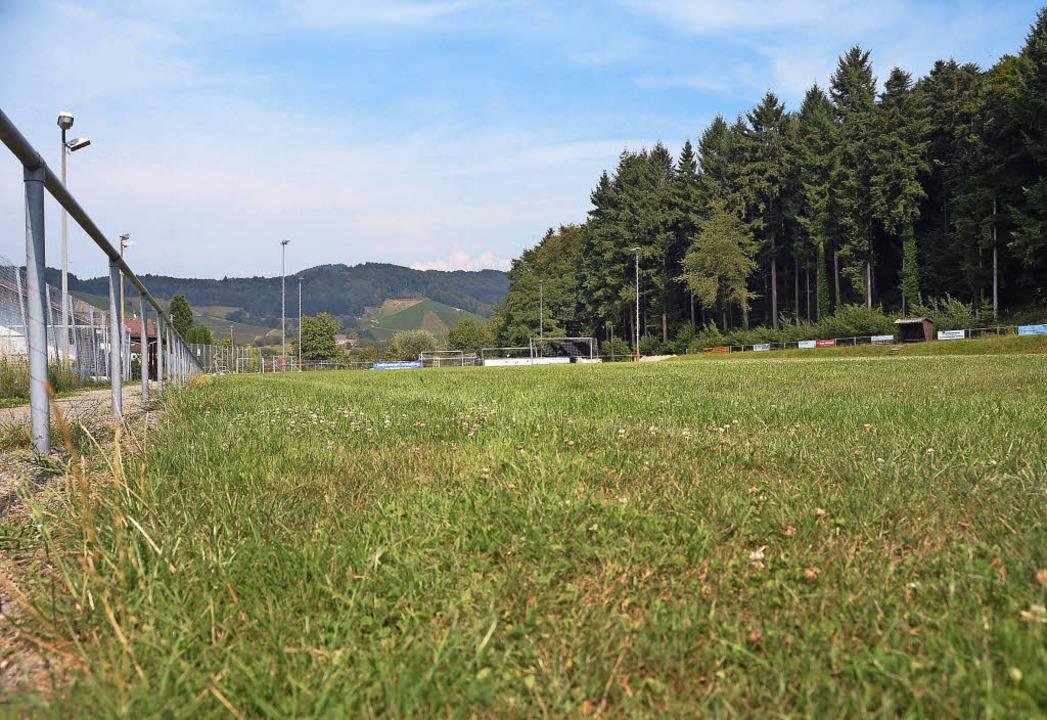 Der Heuweiler Sportplatz ist nur im Sommer gut zu bespielen.   | Foto: Hirt