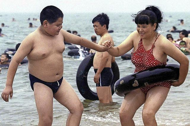 Viele chinesische Kinder müssen dringend abspecken